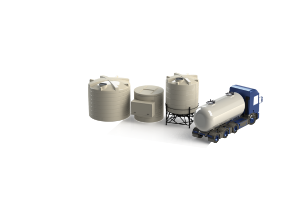Salt Saturator System With Truck
